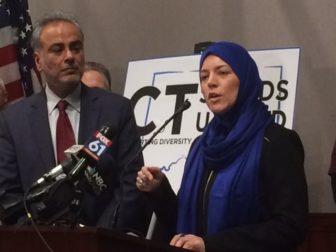 Dr. Saud Anwar, left, and Sister Nicole Correri.