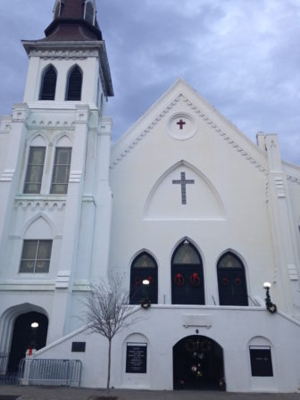 Emanuel African Methodist Episcopal Church in Charleston, S,C., where nine people were shot and killed during a Bible study session.