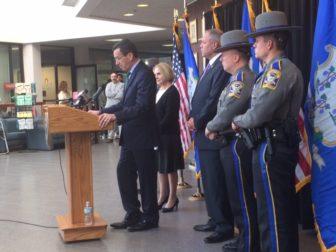 Gov. Dannel P, Malloy announcing preliminary crime statistics for 2015