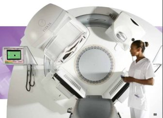 This is A picture of an Elektra linear accelerator, included in Middlesex Hospital's certificate of need proposal.