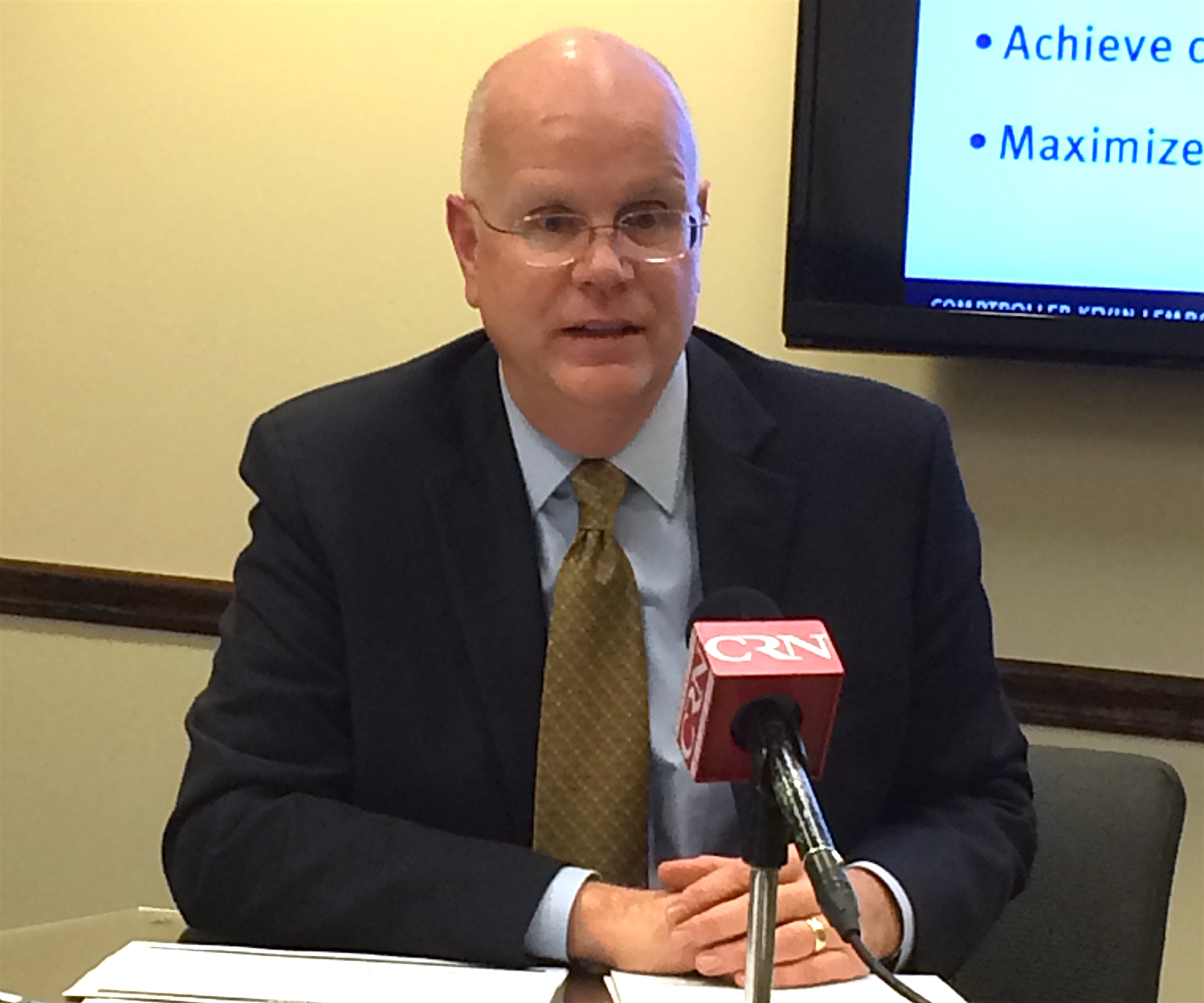 Lembo offers a detailed plan to cope with pension costs