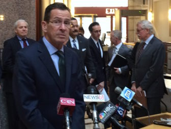 Gov. Dannel P. Malloy commenting on proposals by his transportation funding panel.