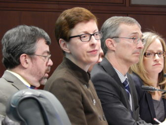 This is a picture of DSS officials, from left, Dr. Robert Zavoski, Kate McEvoy, Mike Gilbert and Melissa Garvin.