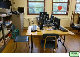The computer lab at Natchaug School in Windham Public Schools