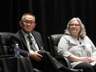 This is a picture of Dr. Hyong Un and Donna DeWan