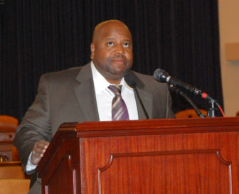 James Tillman at a press conference before attending Tuesday's State of the Union address.