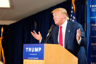Donald Trump in Laconia, N.H., in July.
