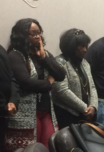 Raymona Holloway and Robin Nelson, the cousin and mother of murder victim Jason Smith.