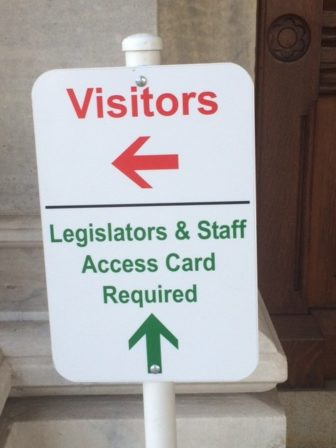 This Capitol doorway directs visitors to the only public entrance. Others do no.