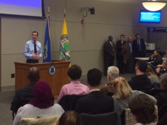 Gov. Dannel P. Malloy faced more than 100 residents at a town hall forum in Middletown.