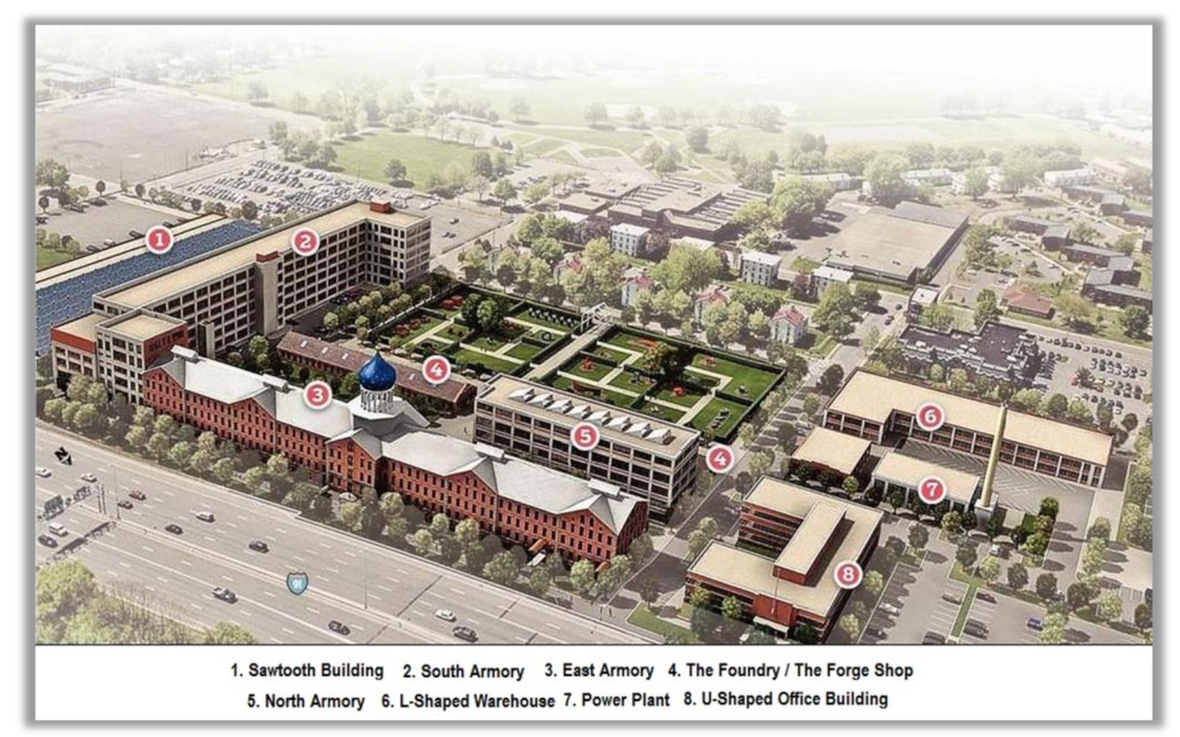 A rendering of the Colt complex