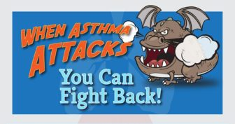 """An image from the Connecticut Hospital Association's """"When asthma attacks"""" campaign, intended to change patients' perceptions about the condition."""