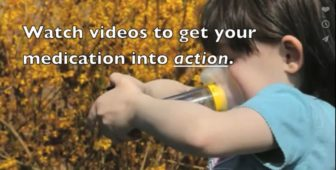 An image from a video by the Connecticut Hospital Association, part of a campaign to change patients' perception of asthma and give tips on managing it.