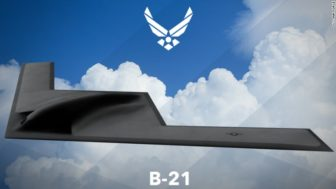 An artist's rendering of the proposed B-21 bomber.