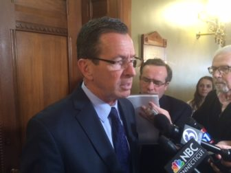 Gov. Dannel P. Malloy after meeting with legislative leaders Wednesday.