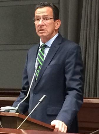 Gov. Dannel P. Malloy addresses CBIA
