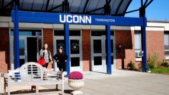The front entrance of UConn's Torrington branch