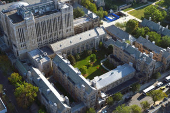 Aerial View of the Yale campus