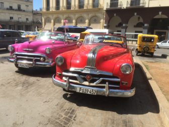 Vintage American cars in Havana last week prior to President Obama's arrival.