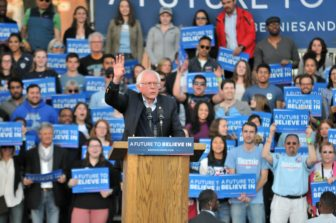 Bernie Sanders had the biggest rally in Connecticut, but still lost.
