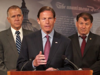 U.S. Sen. Richard Blumenthal addressing the provisions of the new VA bill last April.