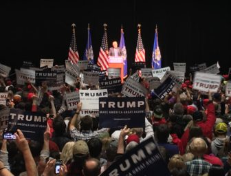 Donald J. Trump in Hartford for an April rally.