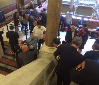 Firefighters came to the Capitol on Wednesday, but this time to thank legislators.