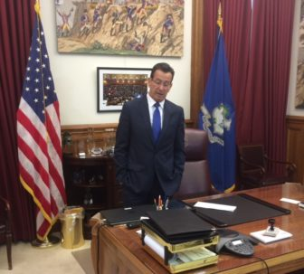 Gov. Dannel P. Malloy after his selection for the JFK award became public.