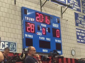 Trump was the home team. Connecticut has 28 delegates.