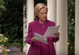 "Hillary Clinton in ""New World."""