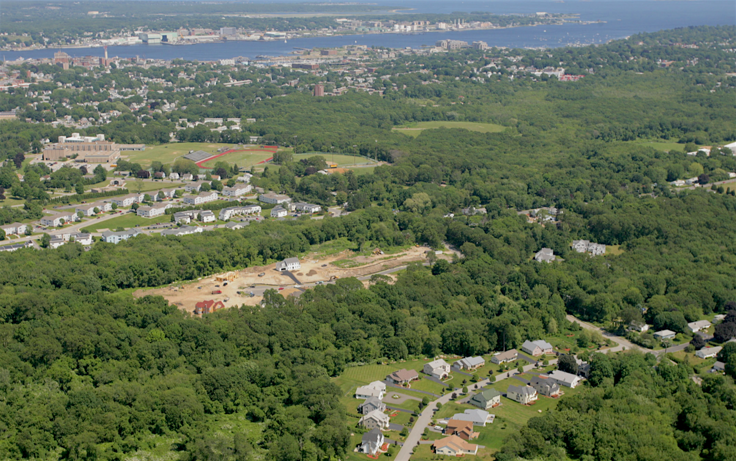 Residential development near the mouth of the Connecticut River.
