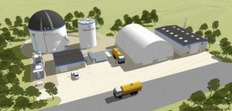 A rendering of the Quantum Biopower anaerobic digester proposed for Southington.