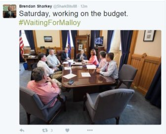 House Speaker J. Brendan Sharkey's tweet on the final Saturday of the legislative session captured the mood between his caucus and the governor.