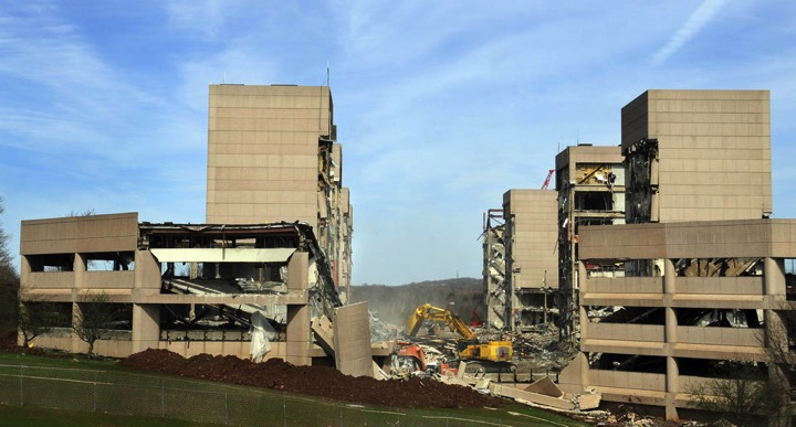 Demolition of the former Aetna complex in Middletown.