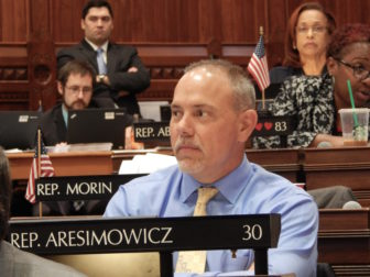 House Majority Leader Joe Aresimowicz of Berlin during the budget debate.