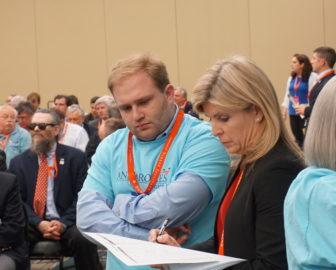 Ann Brookes follows a close vote.