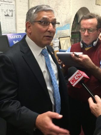 Senate Minority Leader Len Fasano reacts to the Democrats' budget.