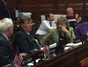 Reps. Paul Brycki and Claire Janowski. Brycki is quitting after one term, Janowski after eight.