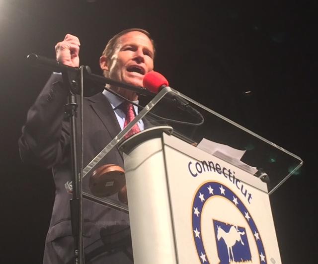 Trump plays biggest role at Connecticut Democratic convention