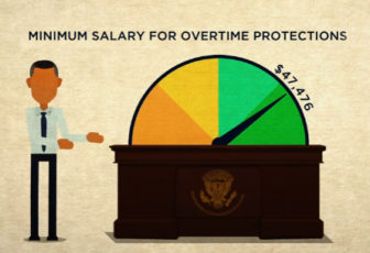 An image from the U.S. Department of Labor video explaining the new rule changes. Watch the video at the bottom of this page.