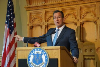 Gov. Dannel P. Malloy at a recent press conference.