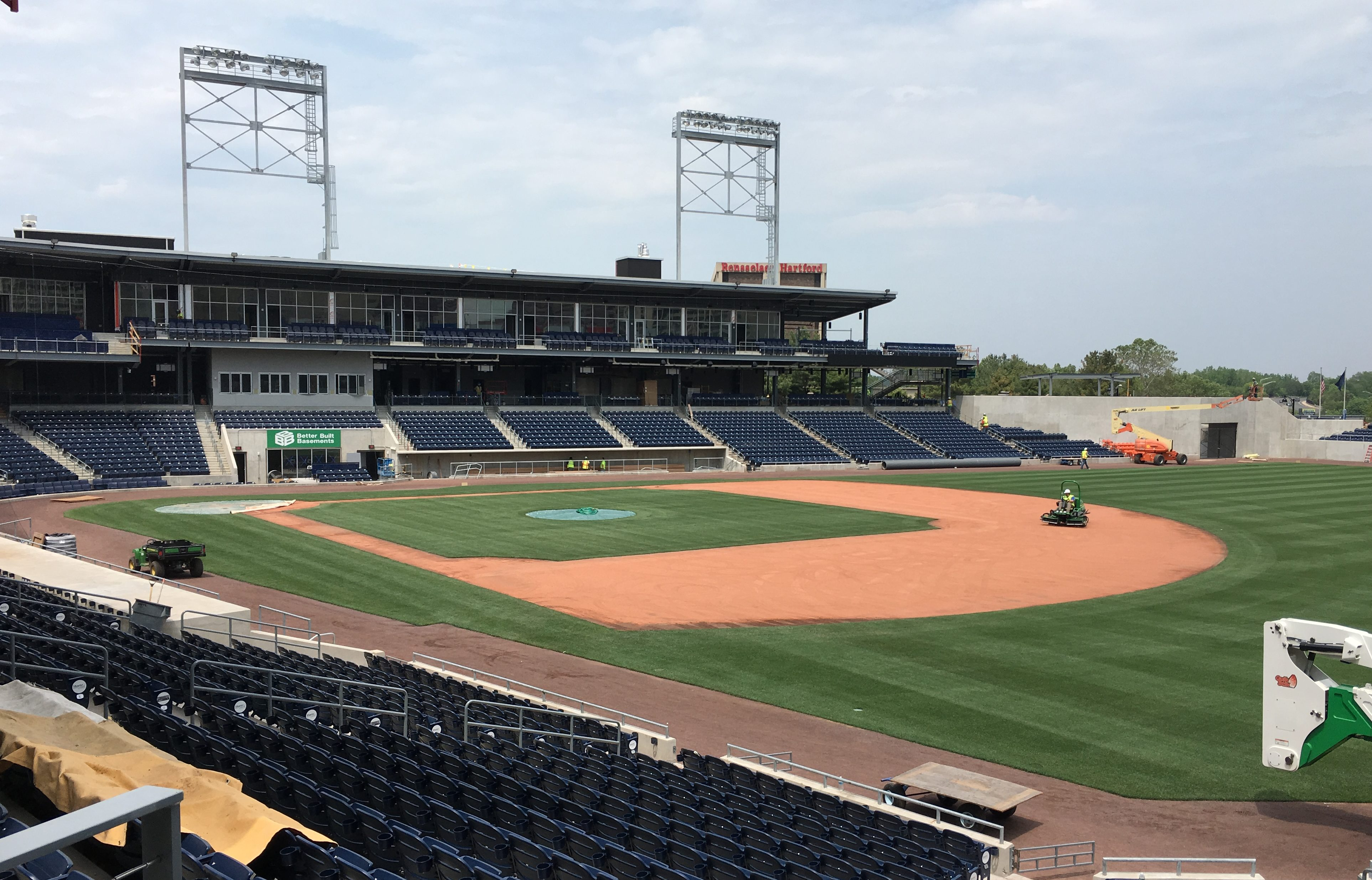 Dunkin' Donuts Park on the day the Hartford Stadium Authority pulled the developer's performance bond.