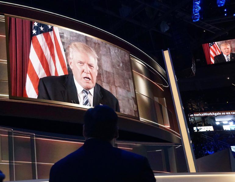 Donald J. Trump appeared once again, this time on screen.