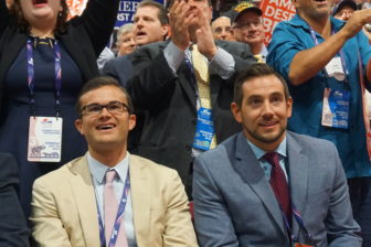 State Sen. Art Linares arrived Wednesday night and joined GOP chair J.R. Romano in the front row. Read the story here.