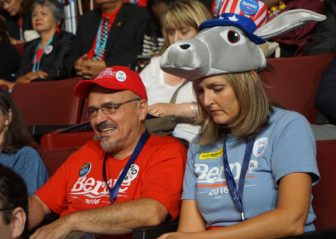 Sanders Dan Durso and Angie Parkinson. Durso will vote for Clinton. Parkinson is unsure.