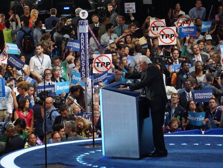 Bernie Sanders urging unity.