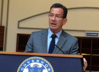 Gov. Dannel P. Malloy after today's Bond Commission meeting