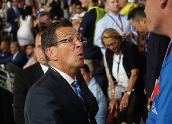 Gov. Dannel P. Malloy among Connecticut delegates at the Democratic National Convention.