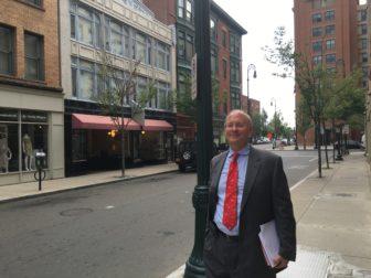 Matthew Nemerson on Orange Street in the Ninth Square