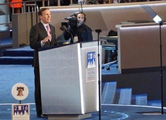 Sen. Chris Murphy addresses the convention.
